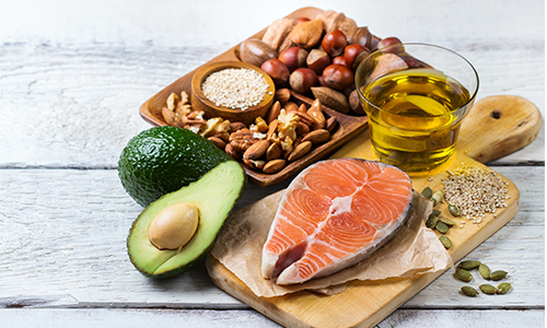 A platter of healthy fats