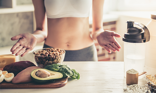 women-with-diet-foods-on-counter